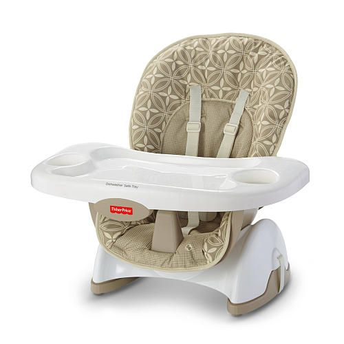 fisher-price spacesaver high chair - tan lattice - fisher-price