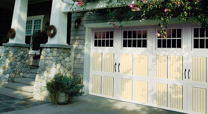 Amarr Garage Doors Classica amarr classica tuscany garage door with maderia windows in true