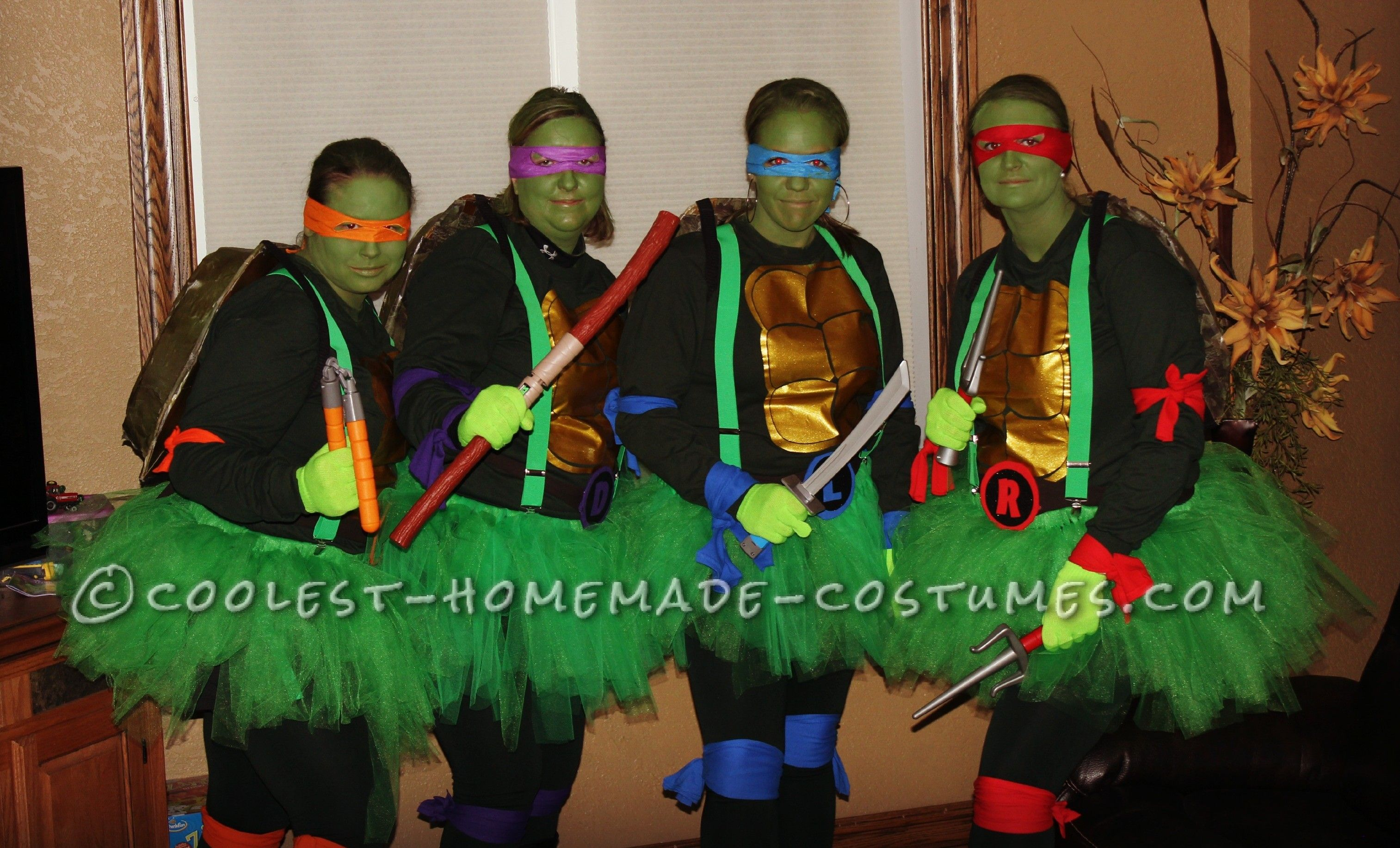 Cowabunga diy ninja turtle costumes for female group diy ninja diy ninja turtle costumes for female group coolest homemade costumes solutioingenieria Image collections
