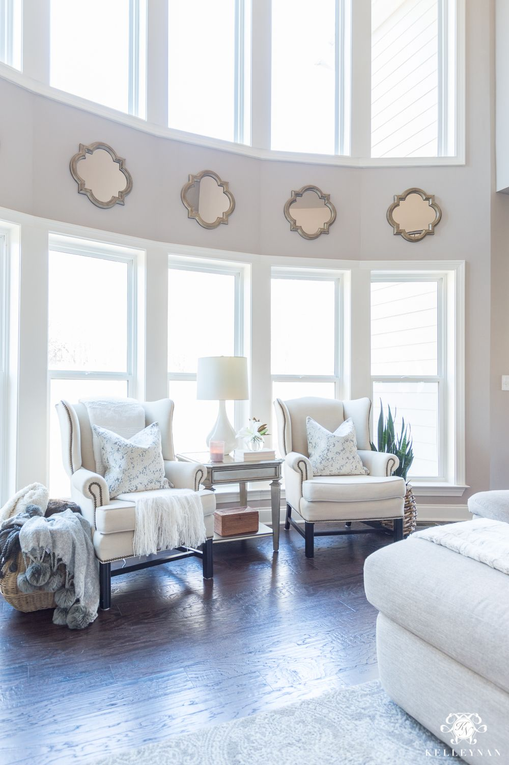 Living room furniture placement with sitting nook | Blogger Home ...