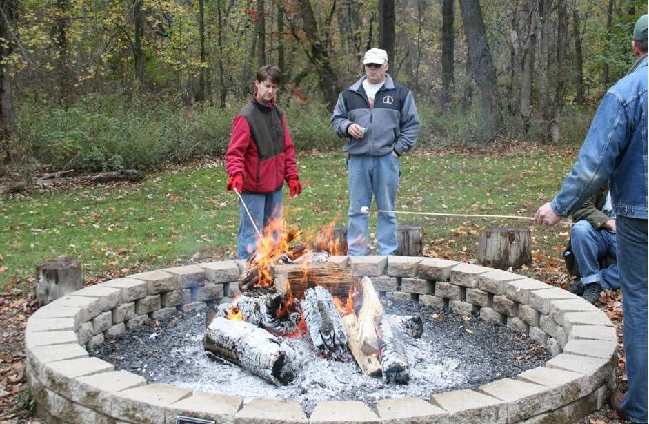 Eagle Scout Candidate Zack Diskey constructed fire pit ring at Harris  Nature Center - The Granddaddy Of Fire Pits. Need Very Long Roasting Sticks For This
