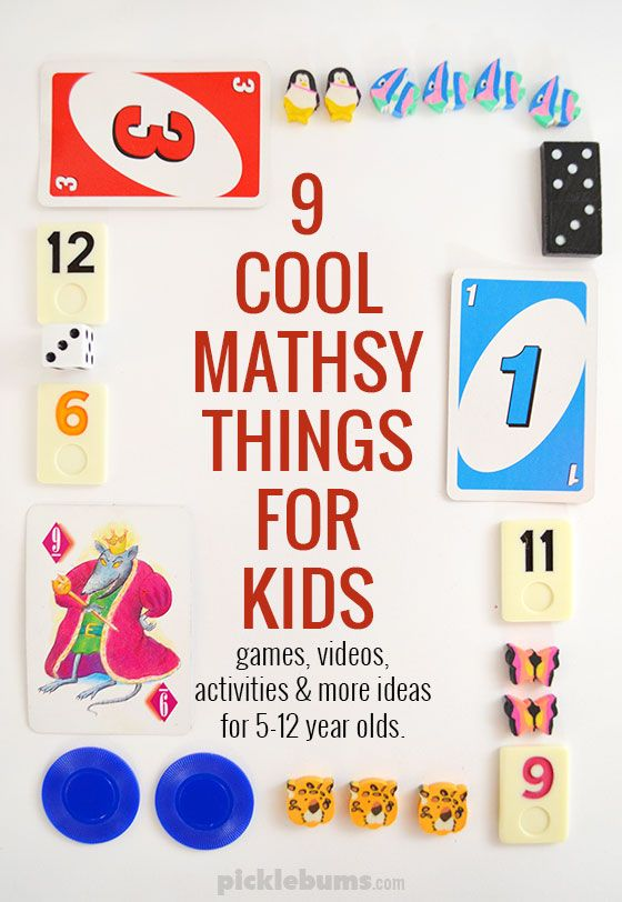 Nine Mathsy Things My Kids Love | Kids videos, Math and Activities