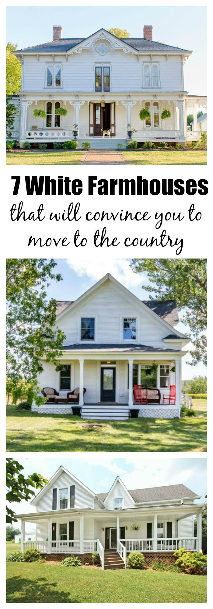 7 white farmhouses that will convince you to pack up and move to the countryside dream house. Black Bedroom Furniture Sets. Home Design Ideas