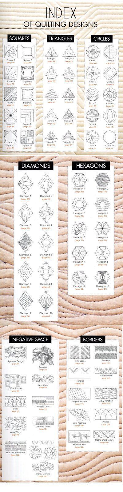 HEXAGON SWAP: Index of Quilting Designs by Erica.com | innocent or ...
