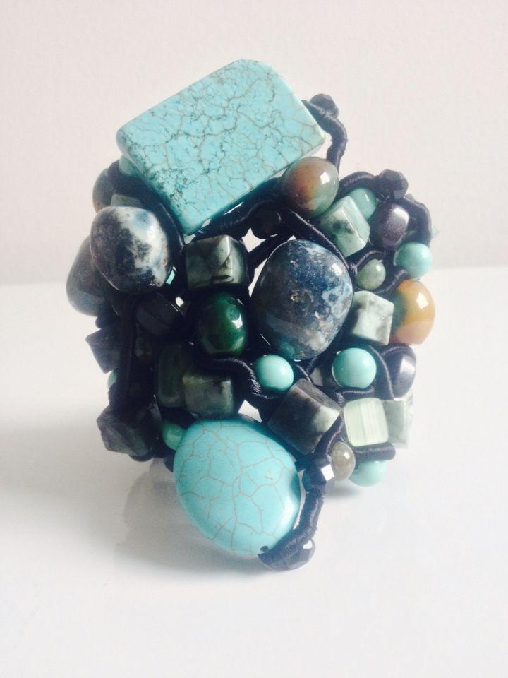 Bracelete de turquesas