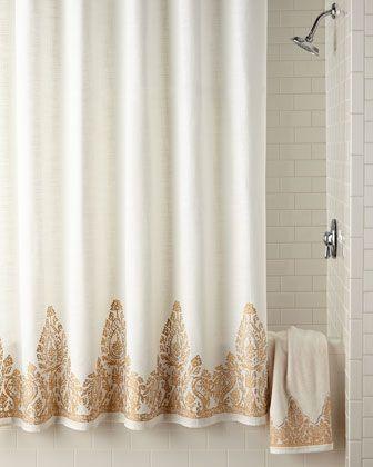 John Robshaw Nadir Shower Curtain Gold Shower Curtain