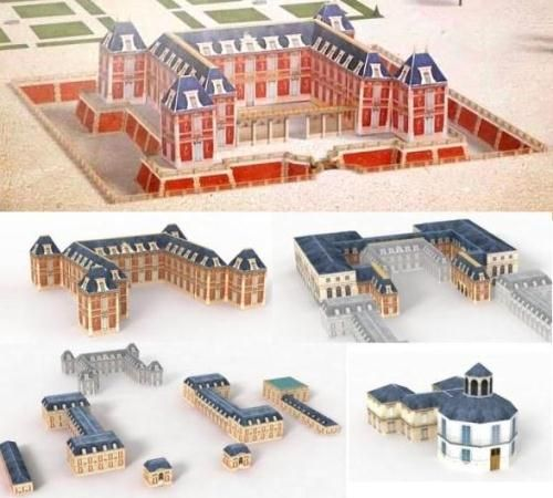 Palace Of Versailles Paper Model By Versailles 3d O Pal Cio De Versalhes