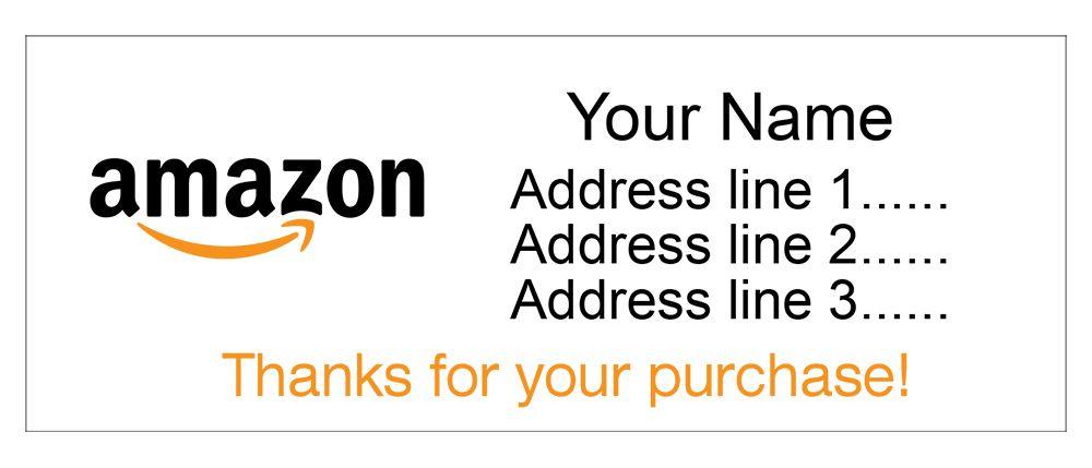 Set Of 30 Personalized Return Address Labels With Amazon Logo