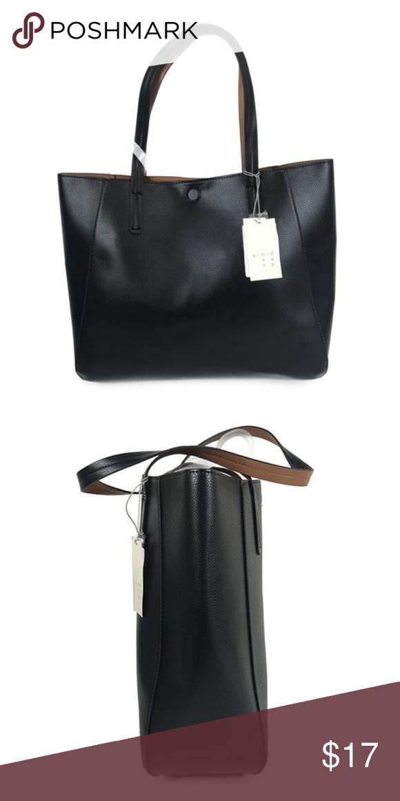 c11b38c9af Women s Small Reversible Tote Handbag - Merona Features of Women s Small Reversible  Tote Handbag - Merona Brand  Merona Type  Handbag Colors  Black ...