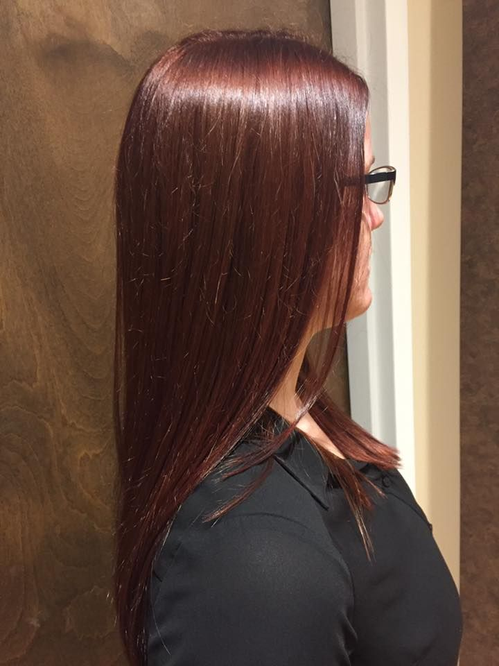 Rich Auburn Brown Hair Color For The Winter Lasalonbianca