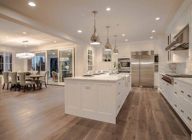Download Wallpaper White Kitchen Hickory Floor