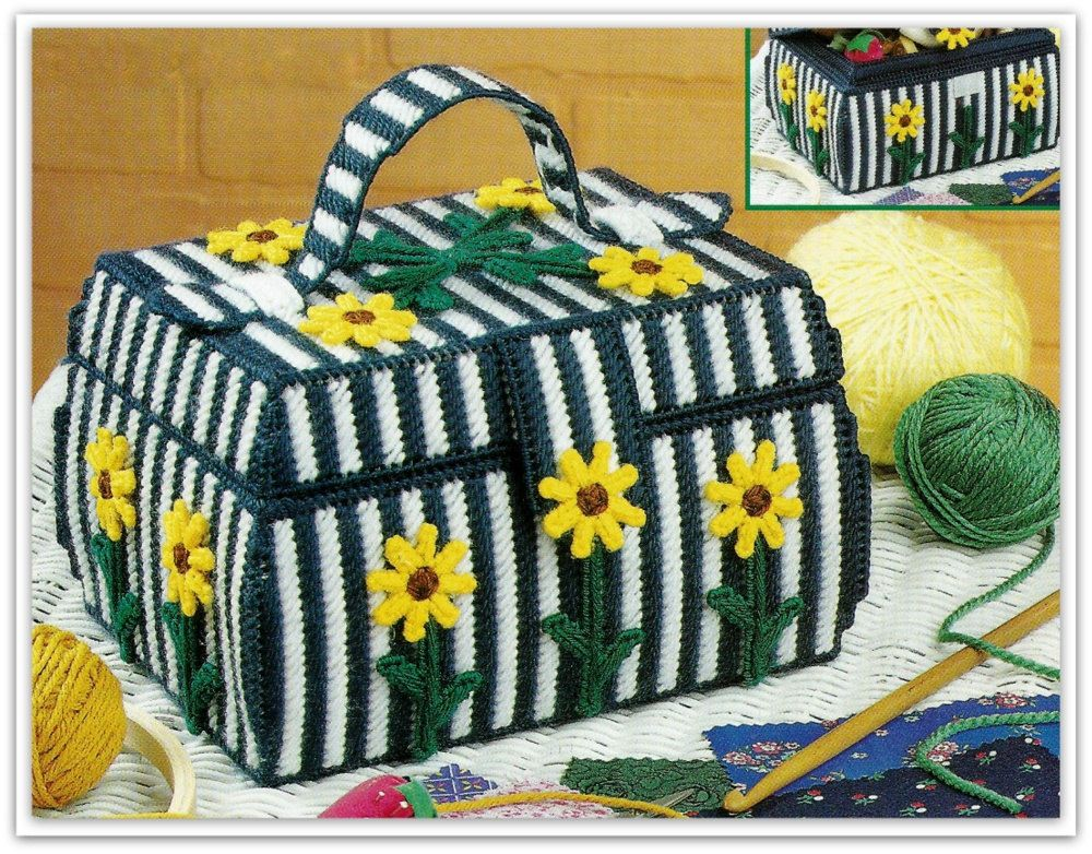 Sewing Basket Pattern - Plastic Canvas - PDF by nanaloveshandmade on ...