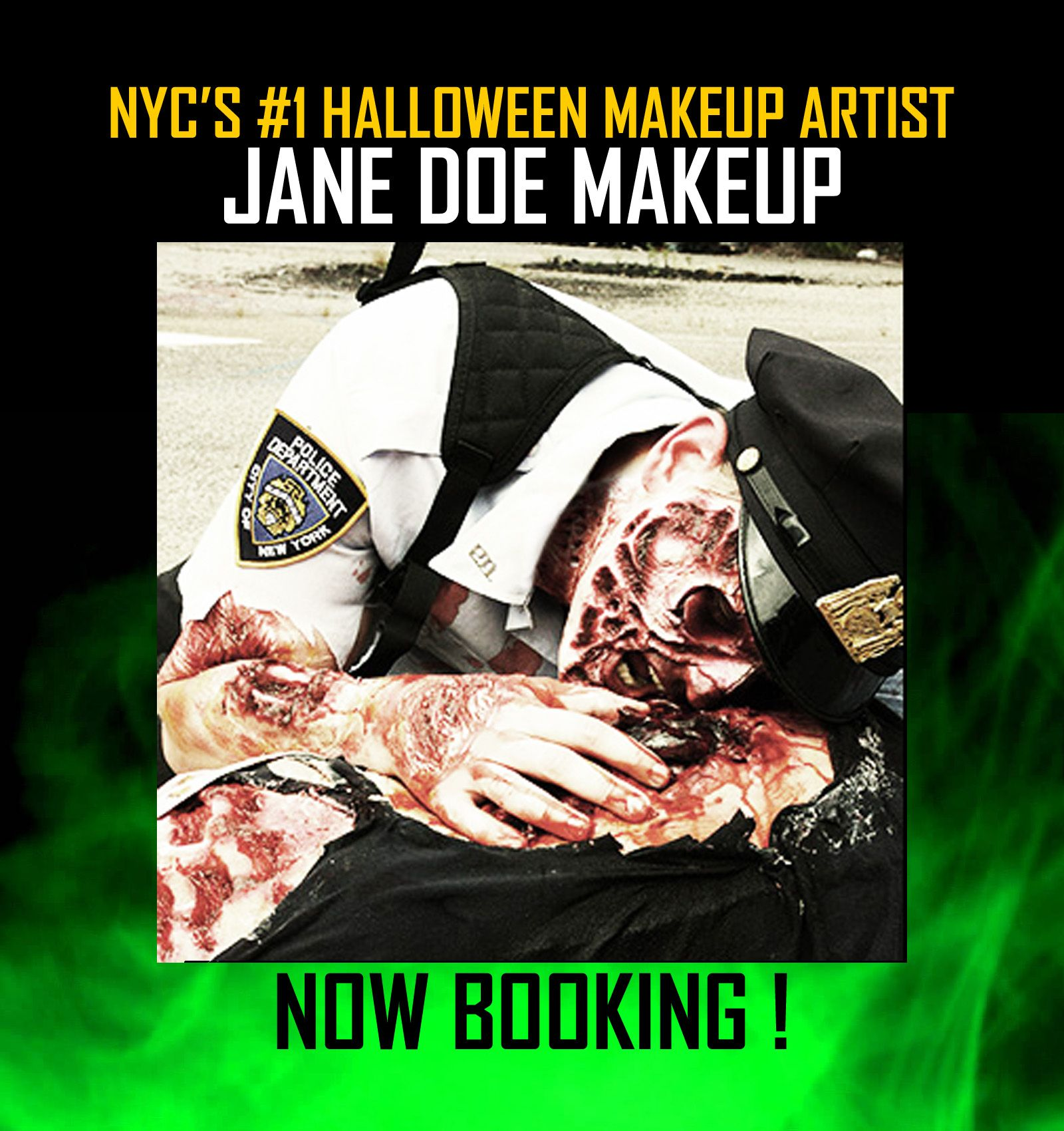 1 NYC Halloween Makeup Artist Now Booking for October