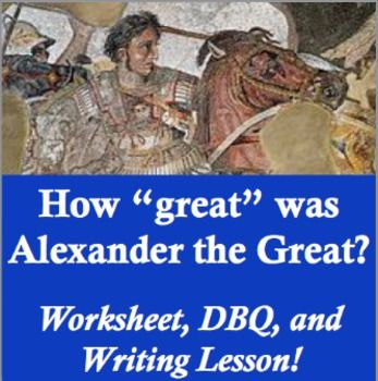Alexander The Great Worksheet Packet With Images Writing