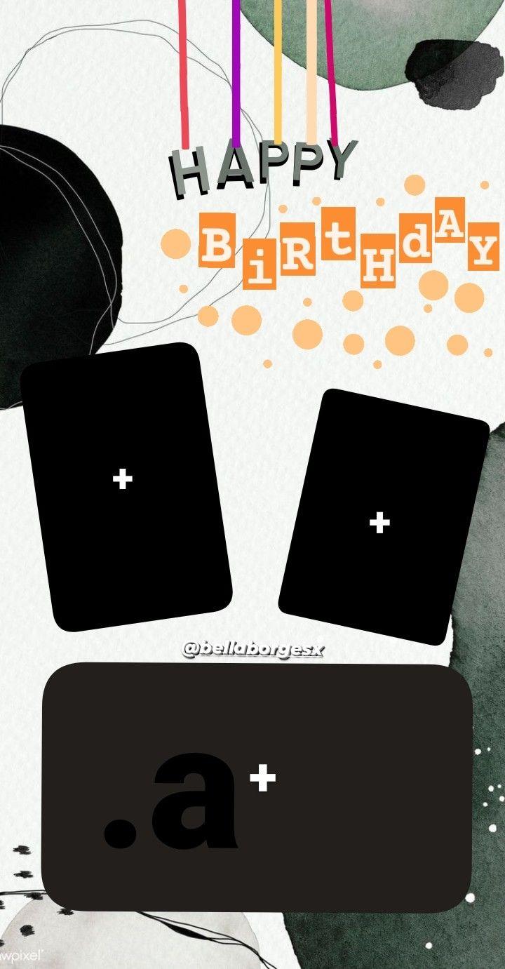 template de happy birthday