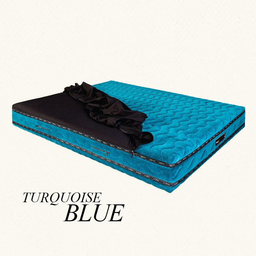 PERSONO | #TurquoiseBlue #glamourmattress #builtinsheetinnovation