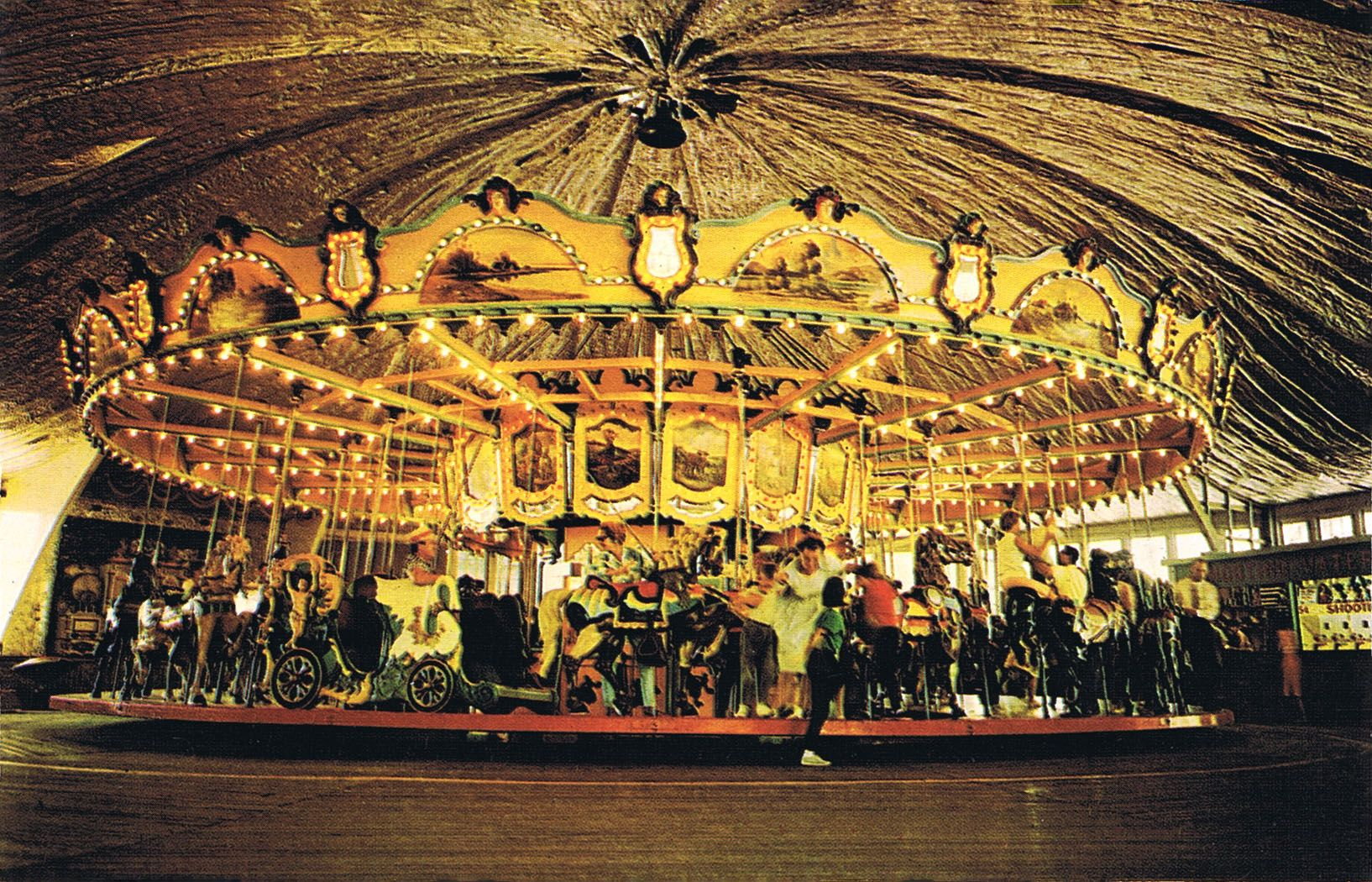 An early 1960s postcard view of the Carousel at Dorney Park in ...