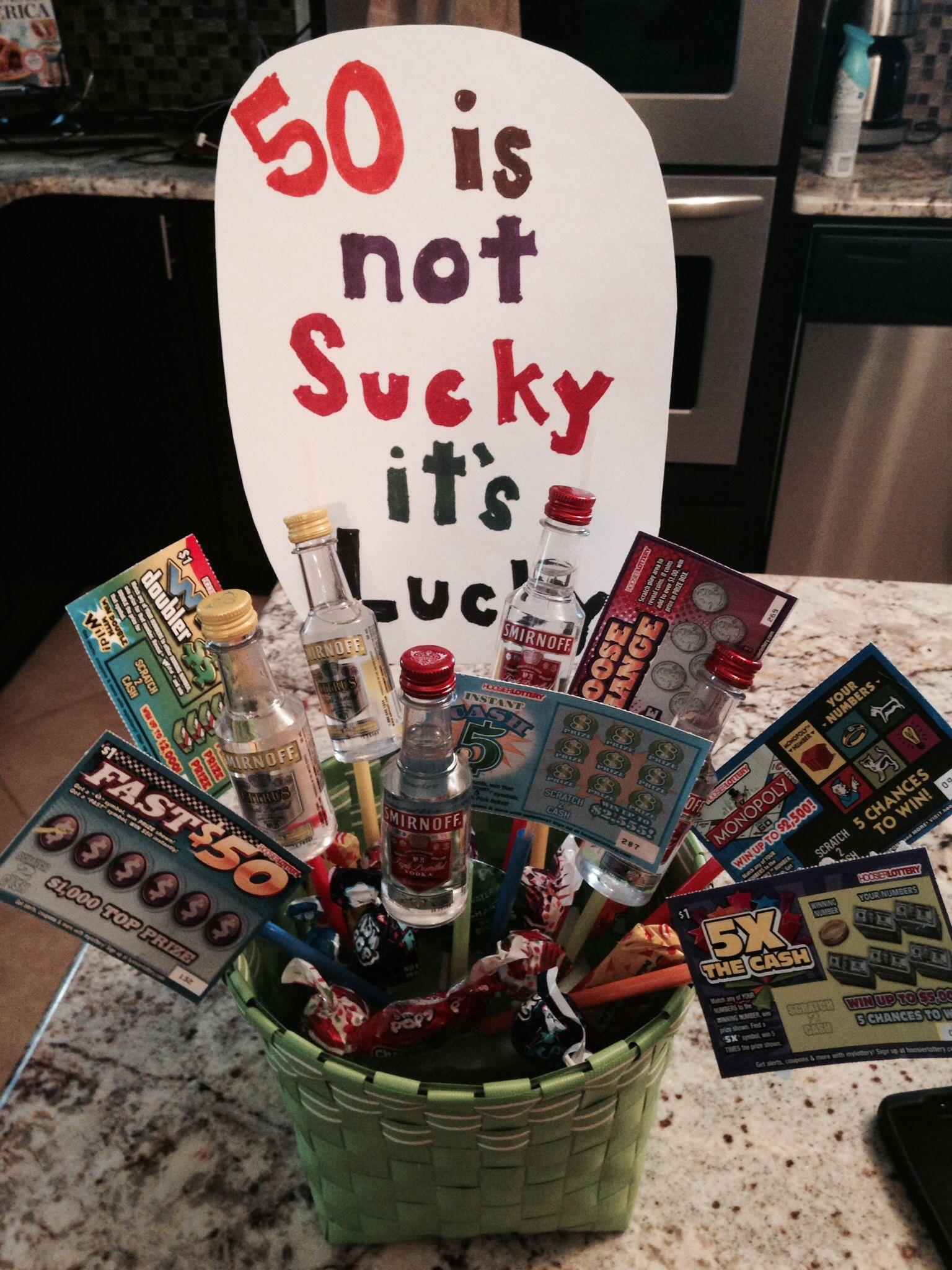 50th birthday, gift basket, 50, birthday, Yep, I did that