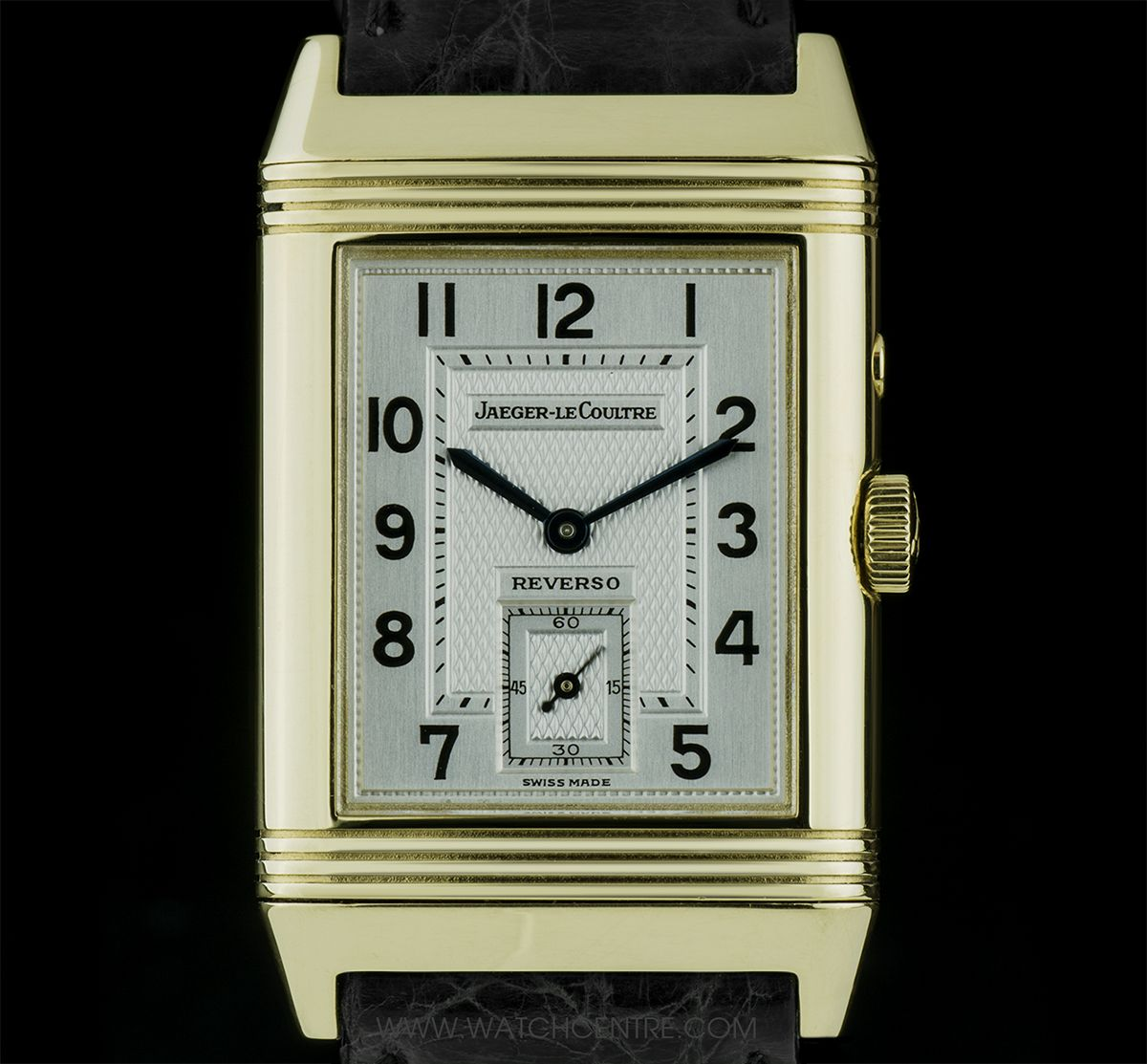 Jaeger Lecoultre 18k Yellow Gold Day Night Reverso Duo B P 270 1 54