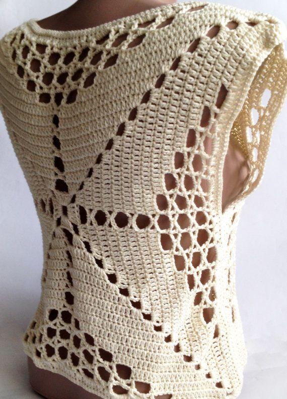 Navidad Crochet venta cosecha superior Vestido de por ElenaVorobey ...