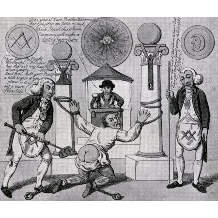 How To Make A Mason English Anti Masonic Caricature From 1800 From