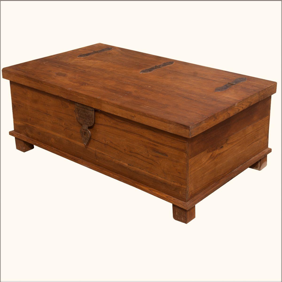 Rustic Teak Wood Wrought Iron Distressed Coffee Table Storage Box Coffee Table Wood Wood Coffee Table Storage Coffee Table Storage Box [ 1200 x 1200 Pixel ]