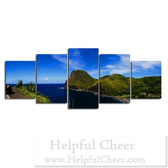 Christopher Doherty x27 Overlook x27 Canvas Wall Art 5 Piece - at - 0153