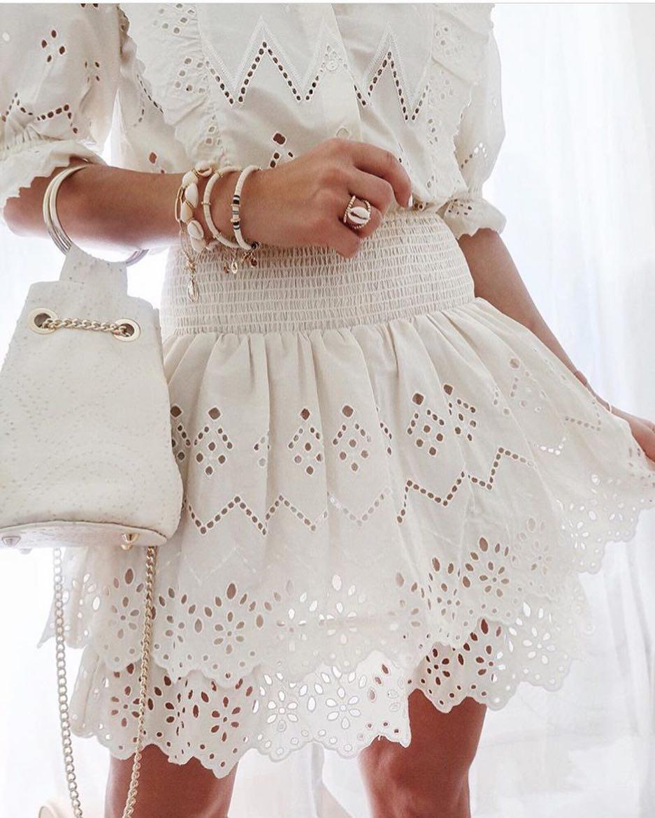 Komplet Azurowy Zara Spodnica Bluzka 34 36 Ecru Style Inspiration Tulle Skirt Fashion