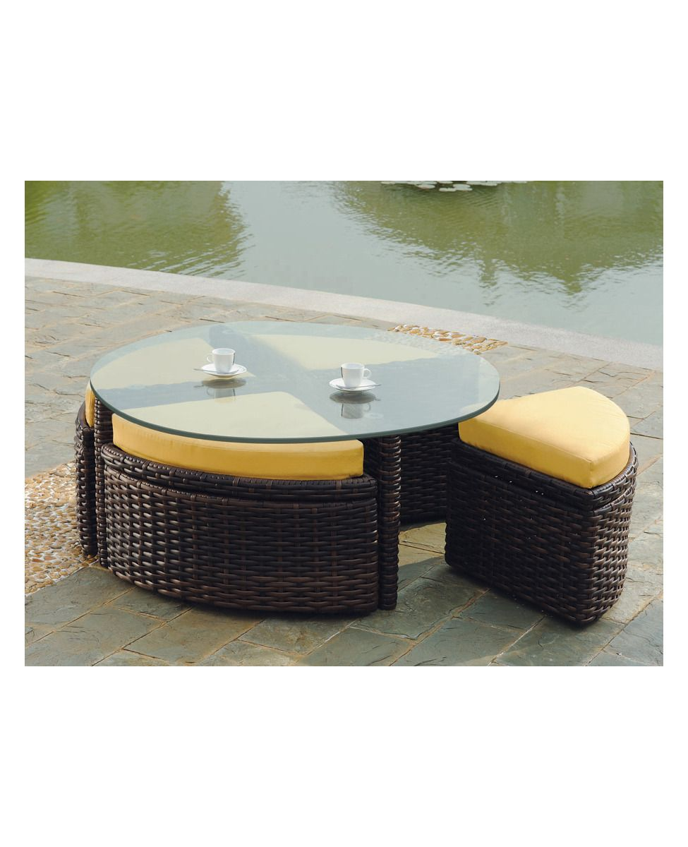 100 Round Wicker Coffee Table Glass Top