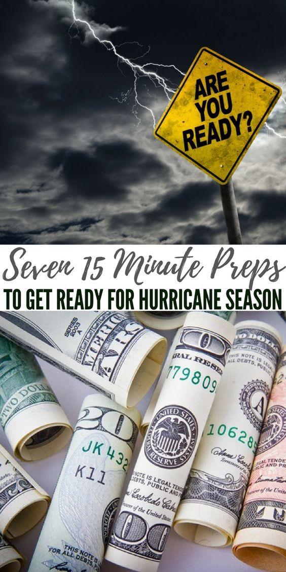 Seven 15 Minute Preps to Get Ready for Hurricane Season #hurricanefoodideas