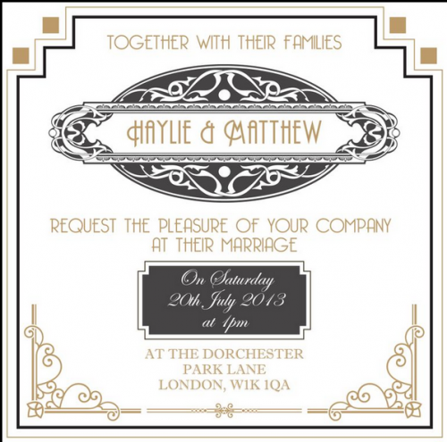great gatsby invitation great gatsby great gatsby wedding theme vintage style 1920s - Great Gatsby Wedding Invitations