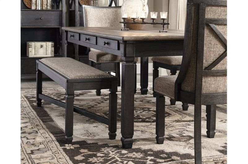 Two Tone Rect Dining Room Table W 6 Drawers Signature Design By