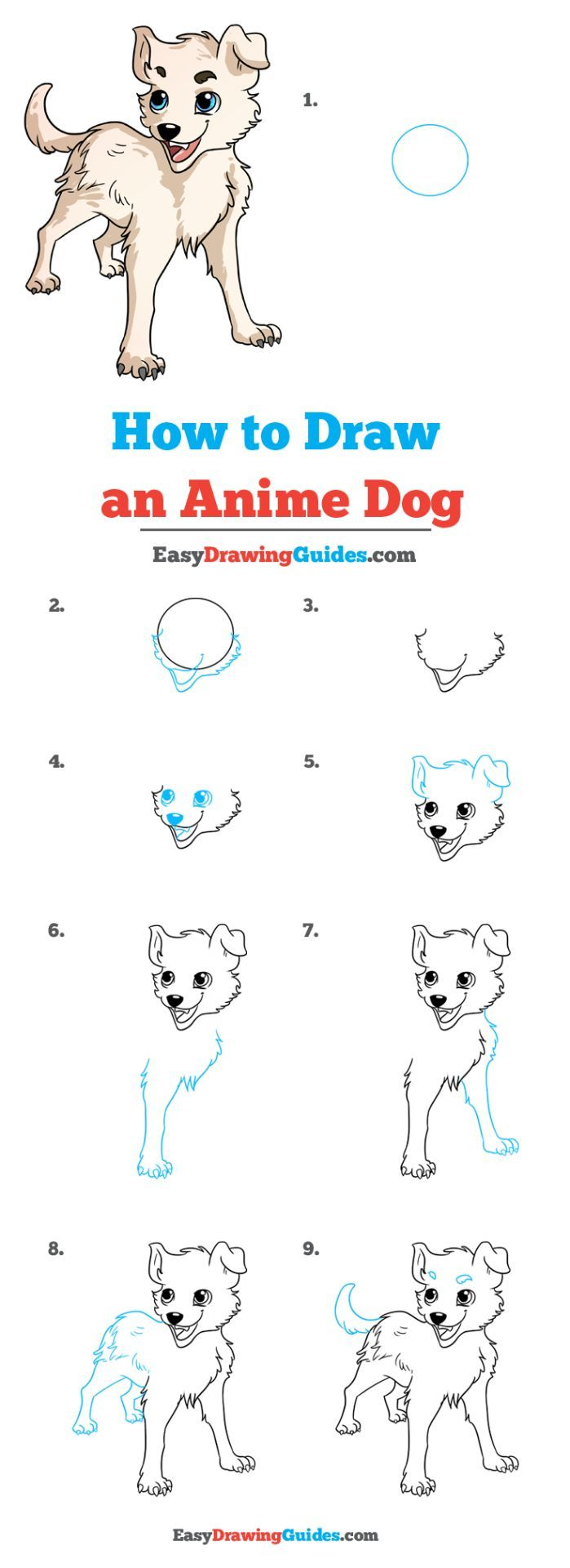 How To Draw An Anime Dog Really Easy Drawing Tutorial In 2020 Drawing Tutorial Easy Easy Drawings Drawing Tutorials For Kids