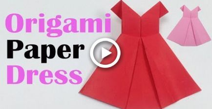 Photo of How to Make a Pretty Origami Paper Dress  | Origami Paper Folding Craft, Videos …
