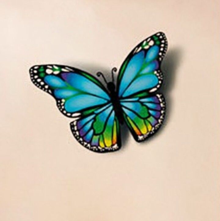 Nice colours | Colorful butterfly tattoo, Butterfly ...