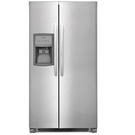 Frigidaire 22.1-Cu Ft Side-By-Side Refrigerator With Single Ice Maker (Stainless Steel) Ffss2325ts