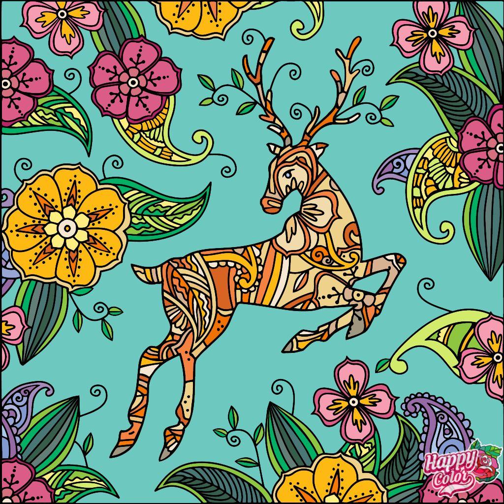 Happycoloringbook Colorful Colors Coloringbook Via Happy Color App For Ipad Happycolorapp Animal Art Colorful Art Happy Colors