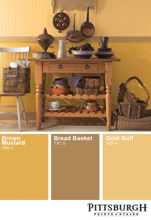 Golden Yellow Paint Color Inspiration Ideas From The Pittsburgh Paints Paint Color Palet House Paint Interior Paint Colors For Living Room Brown Paint Colors