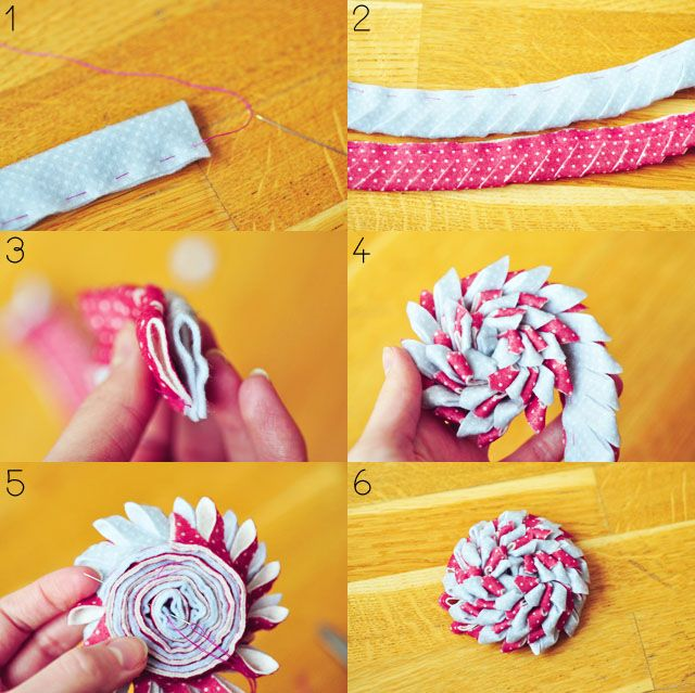 DIY: felt flower brooch