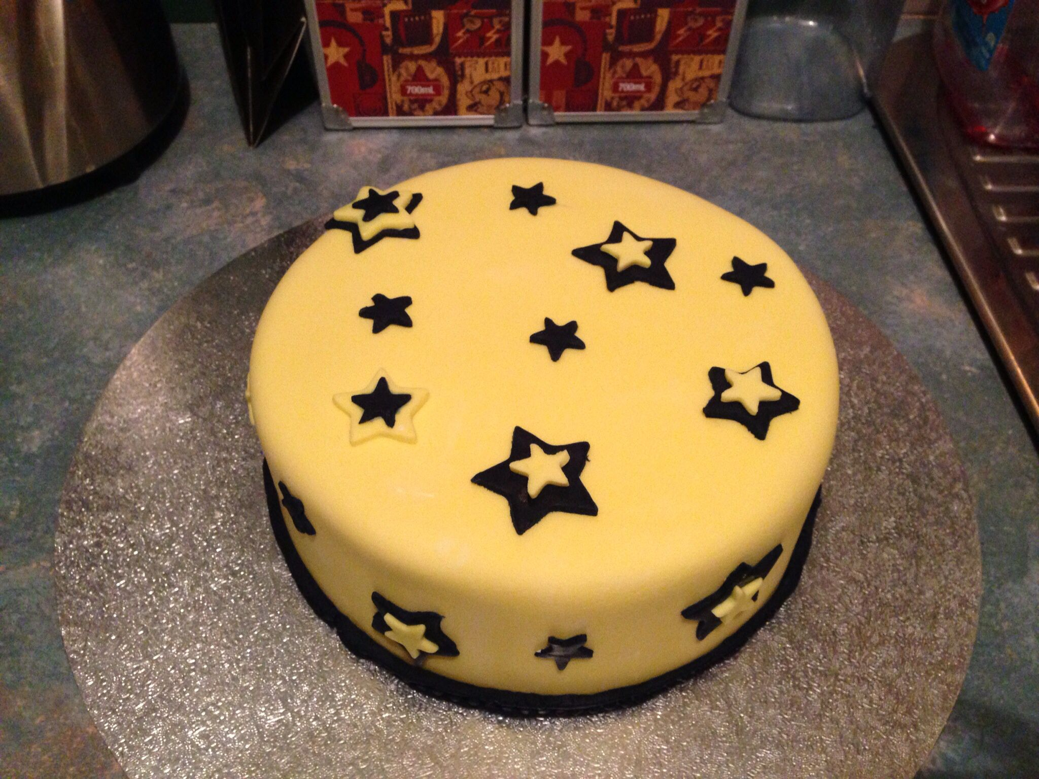 Birthday Cake For Nephews Blue And Yellow Stars Jagmum Cake