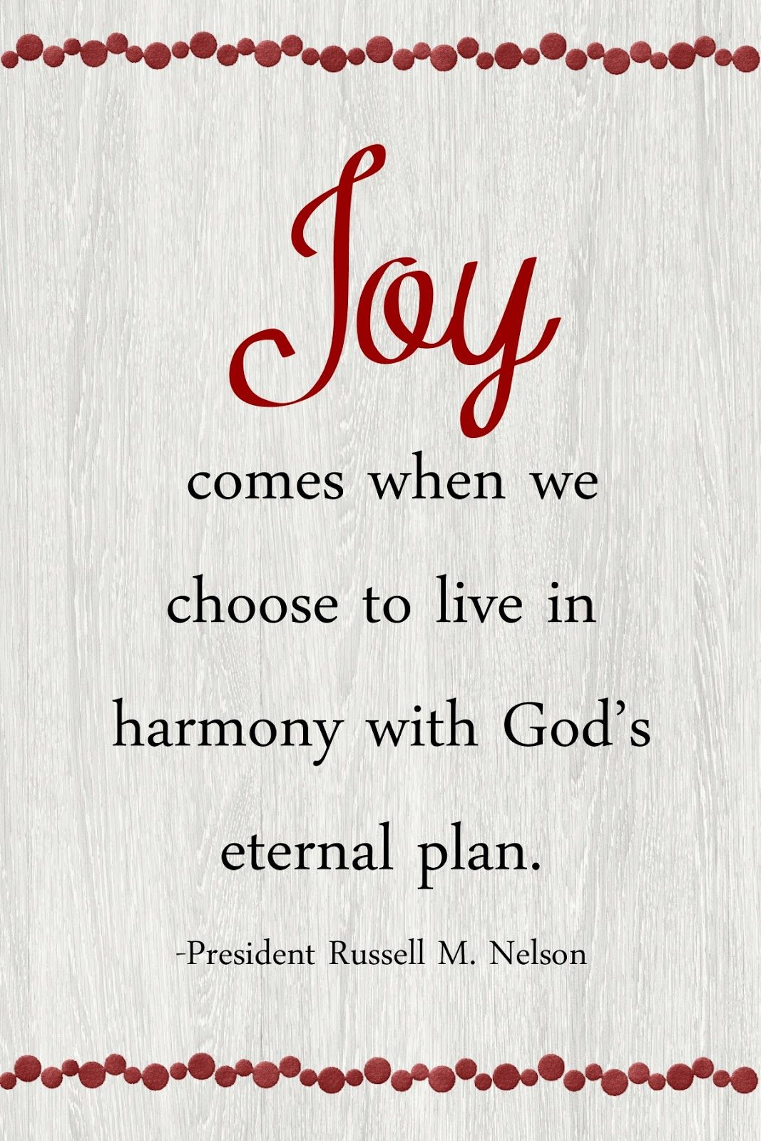 This Months Message Is Family Joy Is Found In Righteous