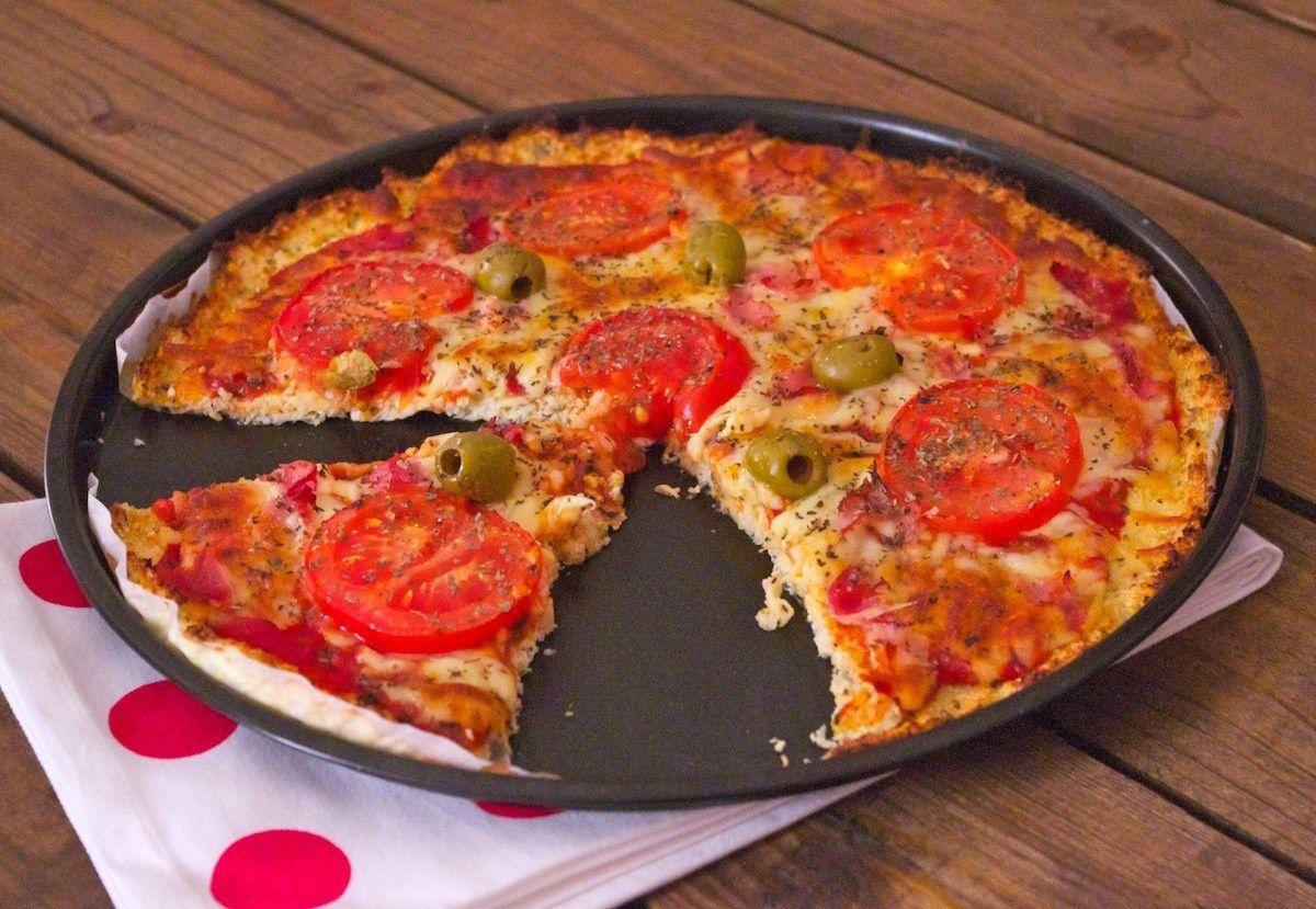 Pizza croûte chou-fleur, light & sans gluten | Recette | Pate au choux, Chou fleur, Cuisson des ...