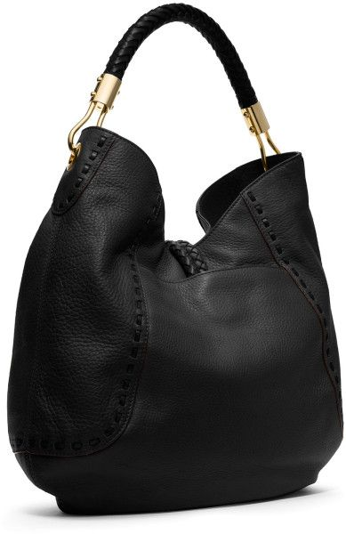 6c49f5cf266a7a MICHAEL KORS SCORPIO | Michael Kors Skorpios Pebbled Ring Hobo in Black -  Lyst