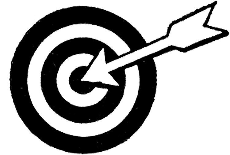 Retro Bulls Eye Target With Arrow Graphic Arrows Graphic Bullseye Target Graphic
