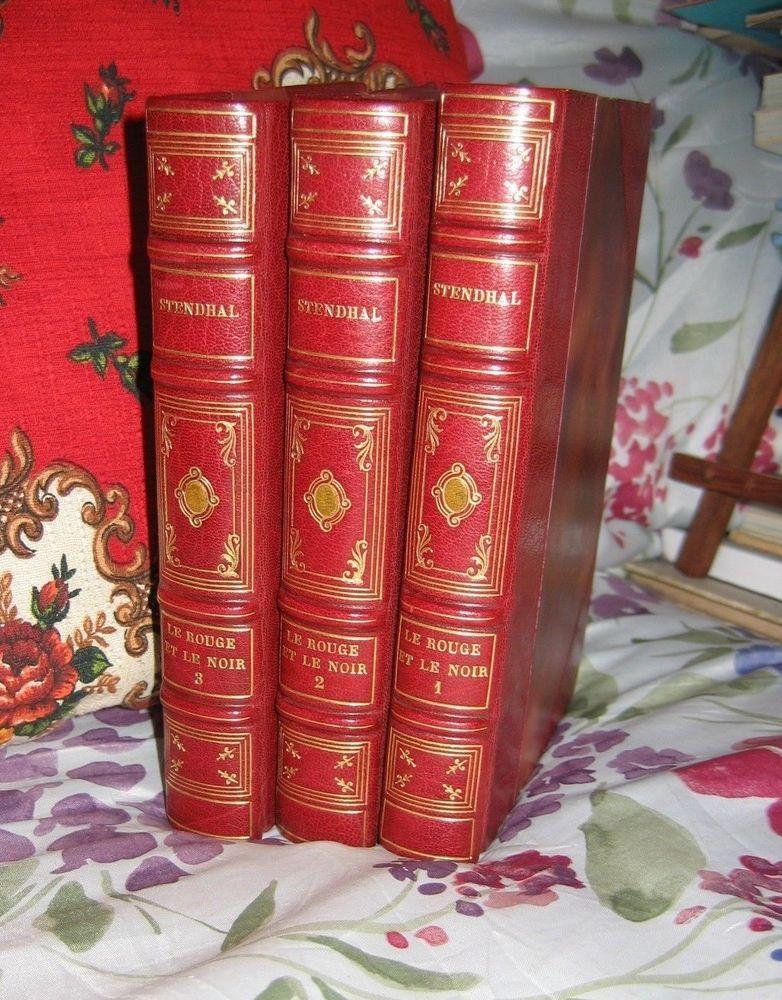 Le Rouge et le Noir  Stendhal - Eaux-Fortes Robaudi Rel. Maroquin 1/800 superbe