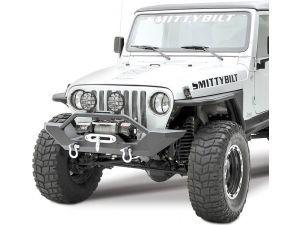 Smittybilt 7 06 Tj Front Xrc Bumper With Kc Hilites 6 Apollo Pro Series 100 Watt Long Range Lamps For 97 06 Jeep Wrangler Tj Unlimited Smittybilt Wrangler Tj Wrangler
