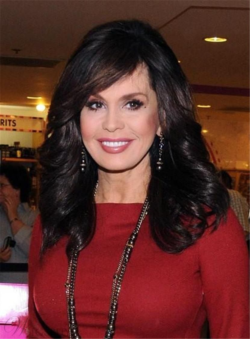Newyear wigsbuy wigsbuy marie osmond side bang capless medium