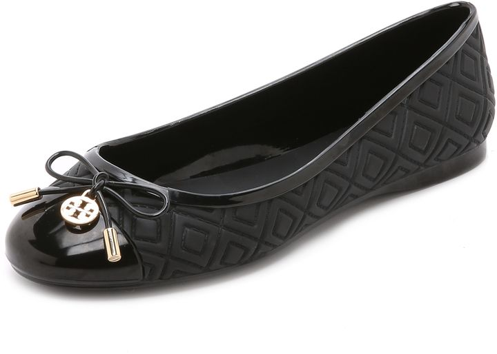 e2a3563d885 Tory Burch Jelly Ballet Flats | Tory Burch | Black jelly shoes ...