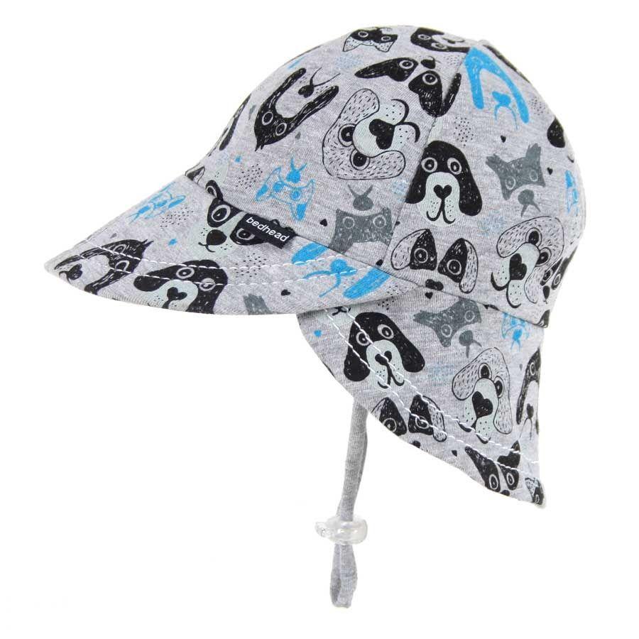 Puppy Print Legionnaire Hat with Strap (Grey) - Bedhead  S