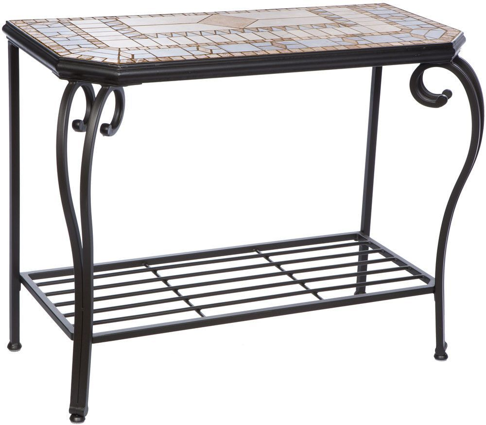 Compass Mosaic Console Table